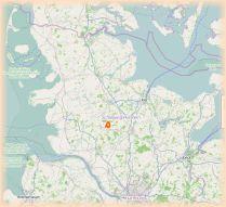 Karte mit der Lage der Gemeinde Remmels in Schleswig Holstein